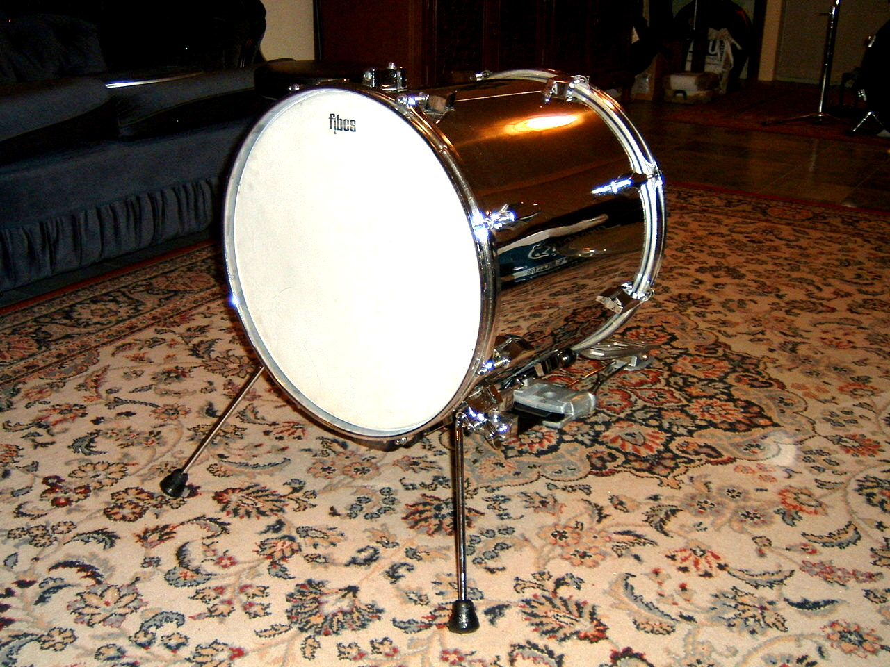 How to convert a floor tom into a bass drum for 16 floor tom drum