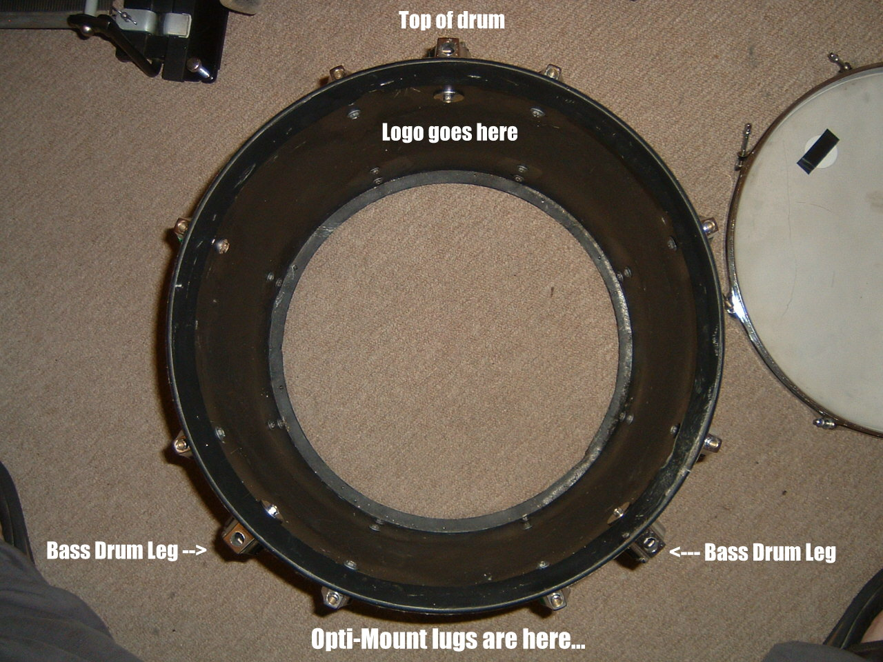 how to convert a floor tom into a bass drum. Black Bedroom Furniture Sets. Home Design Ideas