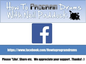 Howtoprogramdrums on Facebook: Please drop us a Like on our Facebook page if you dig these links. Thanks! : )