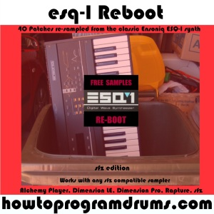 ESQ-1 Reboot (sfz) - now available from our Selz.com shop