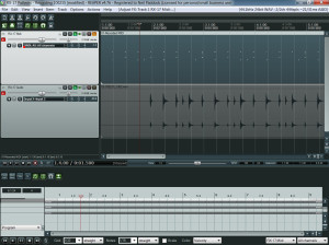 Midi and Audio files created in Reaper. Note they are out of alignment with the grid.