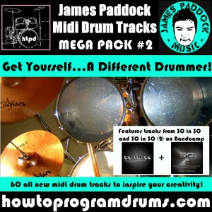 James Paddock Midi Drum Tracks Cover 2