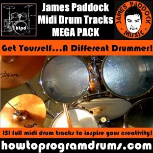 James Paddock Midi Drum Tracks Cover V5